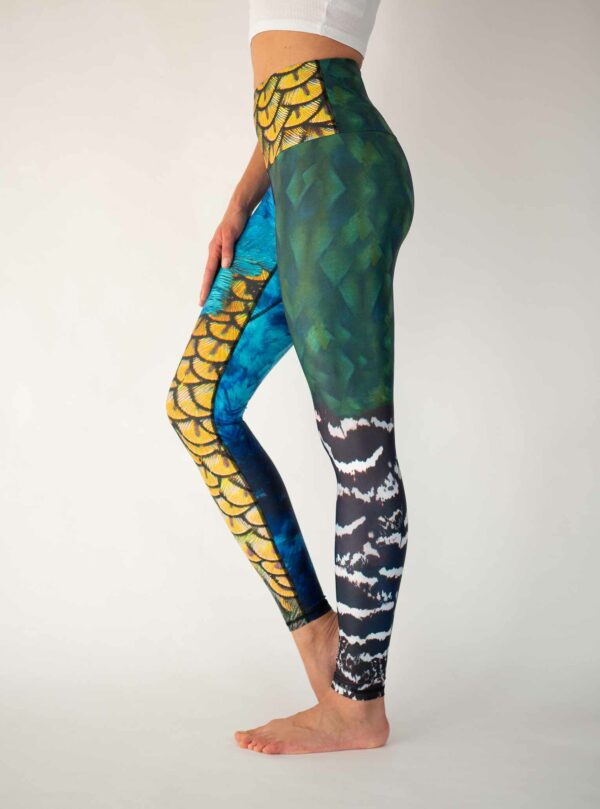 Bunte-Yoga-Leggings-Arctic-Flamingo