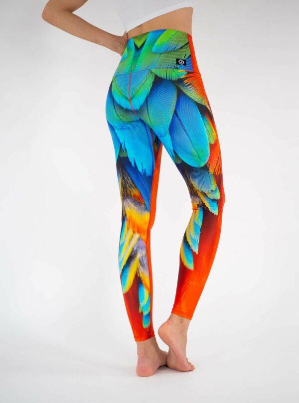 Bunte-Yoga-Leggings-mit-Hoher-Taille-Arctic-Flamingo