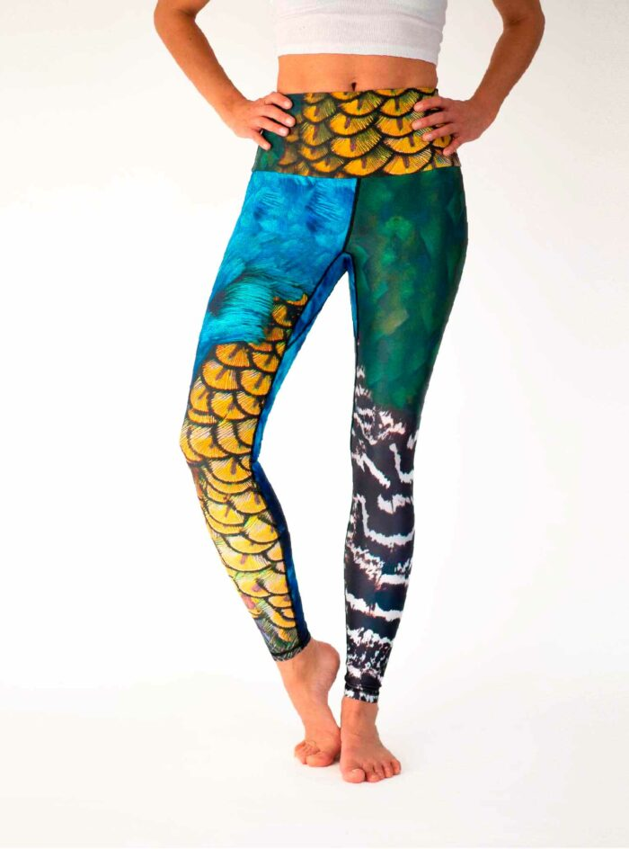 Peacock yoga Tights Arctic Flamingo