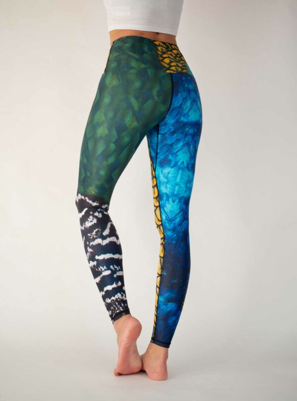 Grüne-Blaue-Yoga-Leggings-Arctic-Flamingo