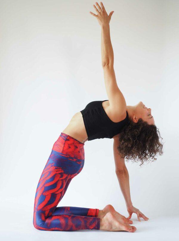 Purple Red Yoga Tights