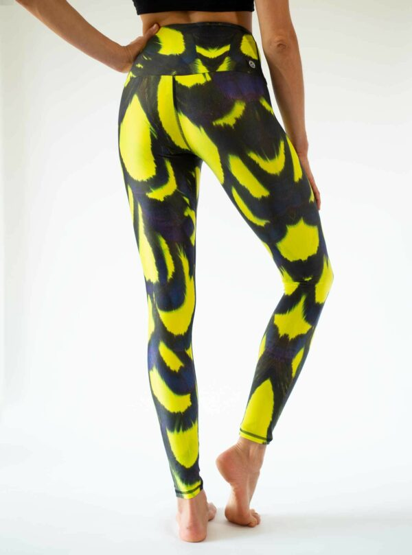 Flying-Tiger-Back-Yellow-Black-Yoga-Leggings-Arctic-Flamingo