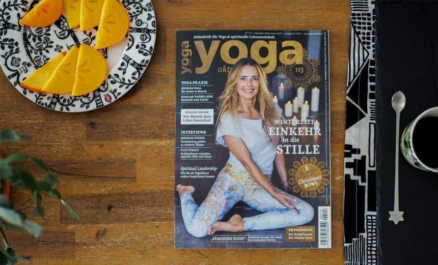 Yoga Aktuell Cover Bild Dezember Rebella Bex