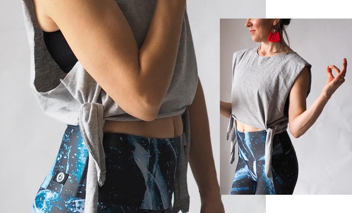 Easy no sewing yoga top update tshirt