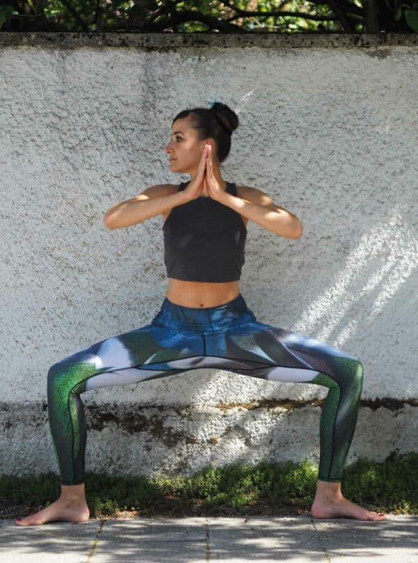 Blau-Grün-Weiss-yoga-leggings-Arctic-Flamingo