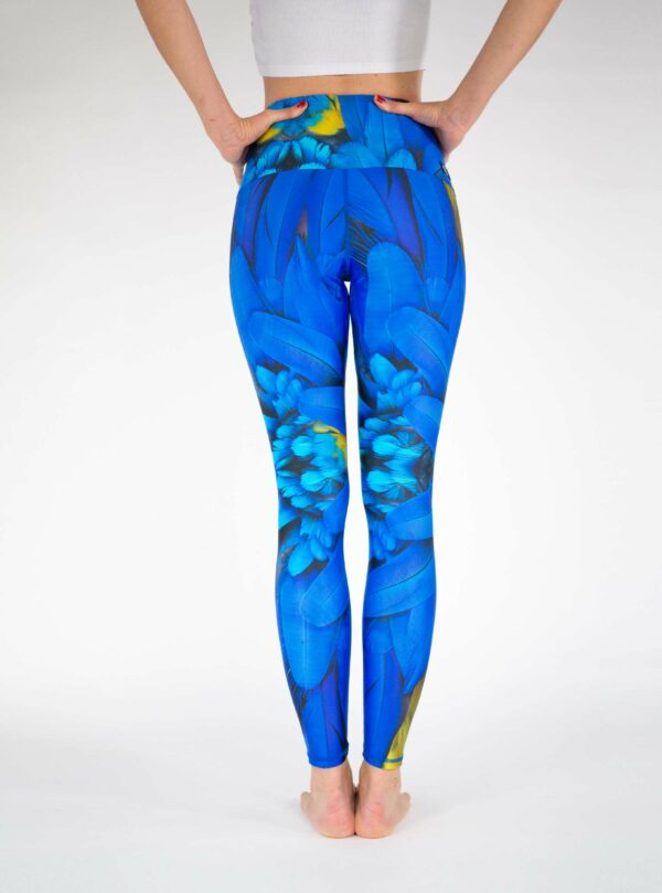Blue-Feather-Yoga-Tights-Arctic-Flamingo-Leggings