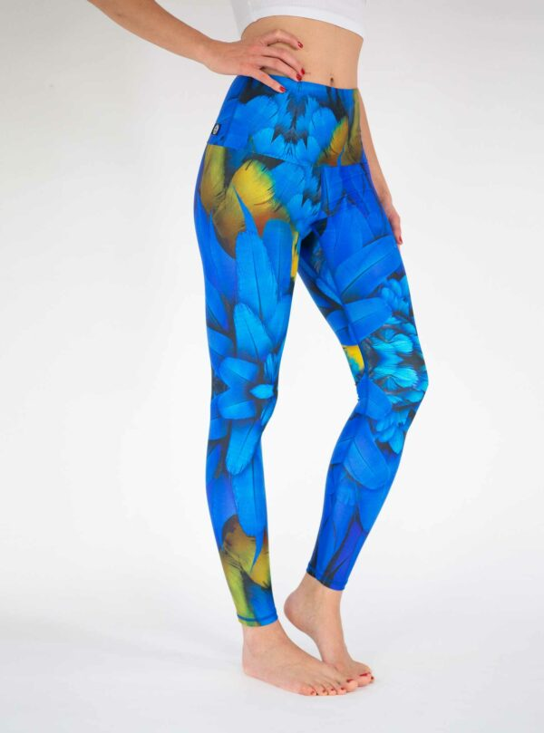 Bright-Blue-Yoga-Leggings-Arctic-Flamingo