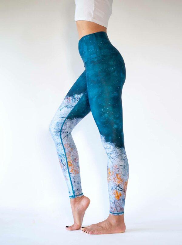 High-Waist-Ecofriendly-yoga-Leggings-Arctic-Flamingo
