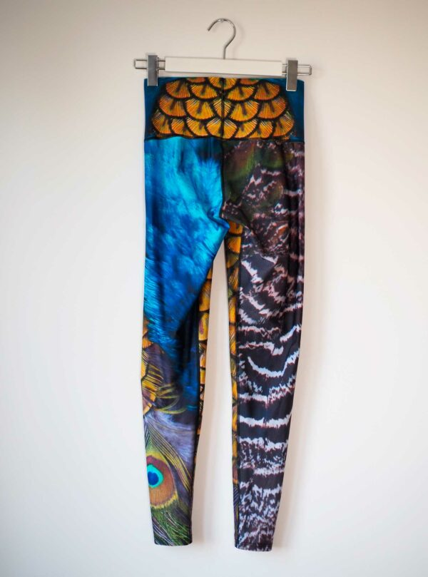 Pfau-Recycelt-Leggings-Econyl-Second-Hand-Size-S