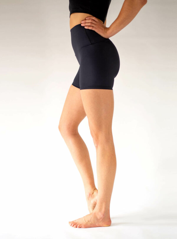 Radlerhose Yoga-Shorts-Hight-Waist-Arctic-Flamingo