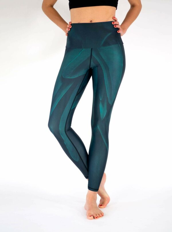 Dark-Green-Bird-Yoga-Leggings