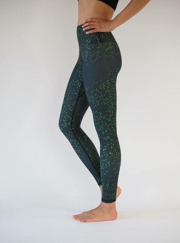 schwarz grün yoga leggings