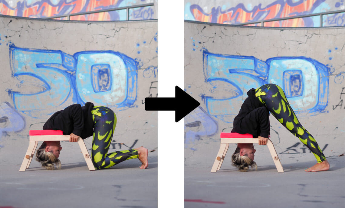 How-to-do-headstand-with-yoga-chair beginners tutorial