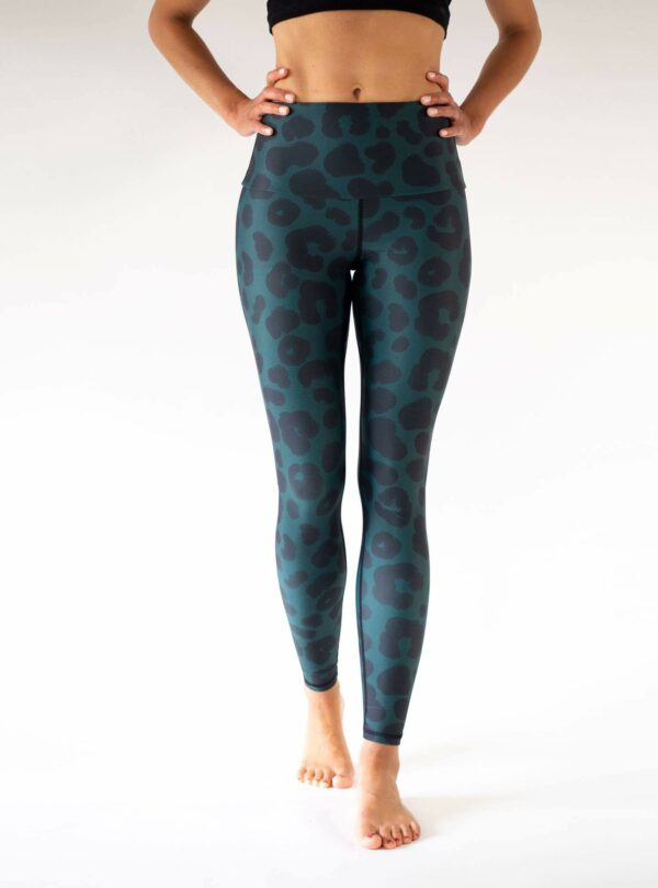 Grün Leopard Leggings