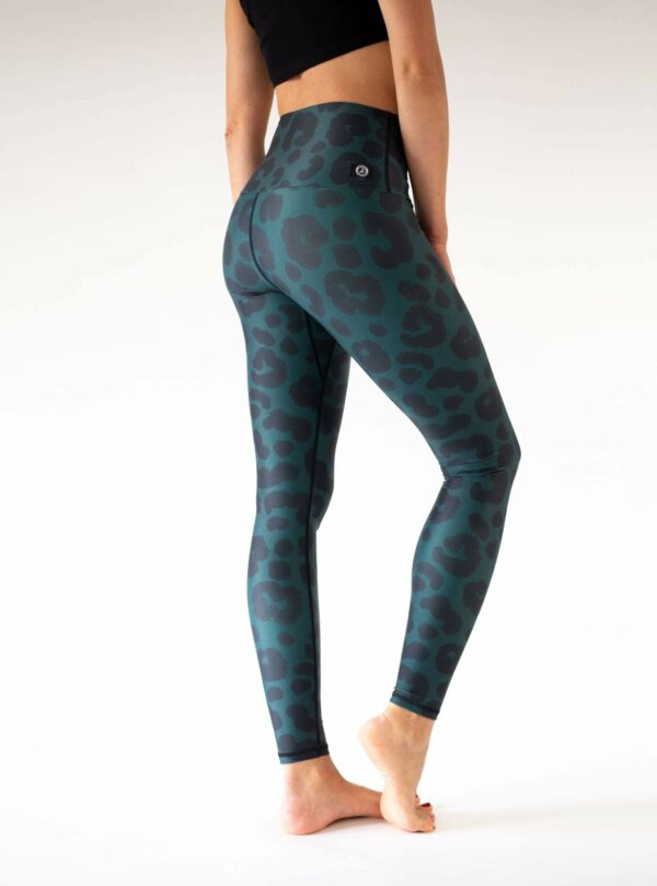 Dark Green Leopard Leggings
