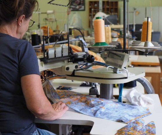 Yoga Kleidung hergestellt in deutschland textil herstellung Arctic flamingo