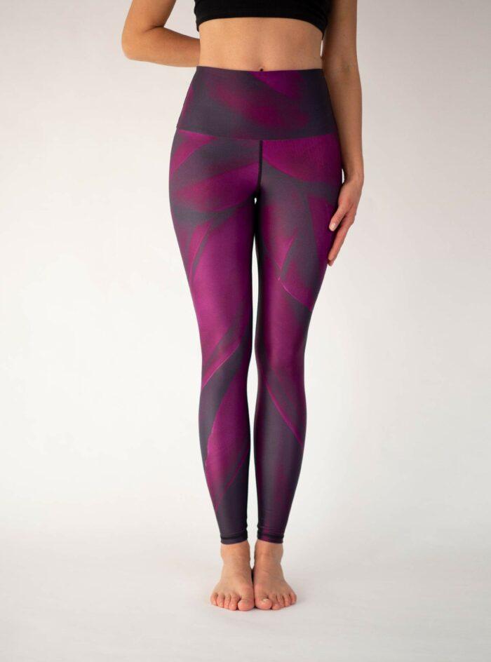 Purple-Yoga-Leggings-Arctic-Flamingo